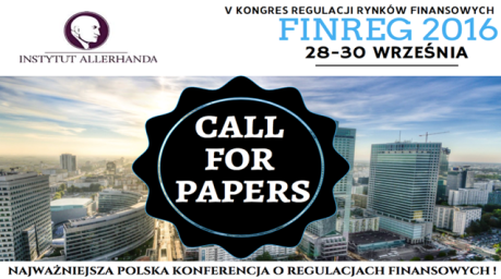 Call for papers FINREG 2016